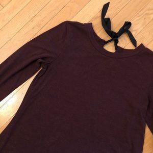 LOFT Purple Long Sleeve Dress